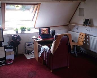 Kamer in Breda, Acaciastraat op Kamernet.nl: Leuke zolderstudio, ook leuk voor stel