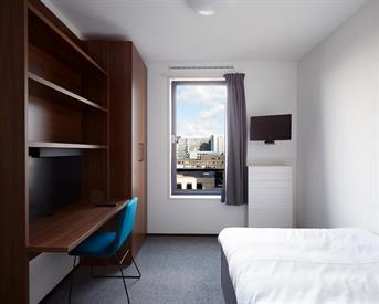 Kamer in Amsterdam, Jan van Galenstraat op Kamernet.nl: volledig ingerichte kamer met eigen badkamer