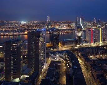 Kamer in Rotterdam, Posthoornstraat op Kamernet.nl: Great room and view from a city centre Penthouse