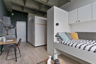 Kamer in Enschede, De Veldmaat op Kamernet.nl: Gloednieuwe, volledig gemeubileerde studio's