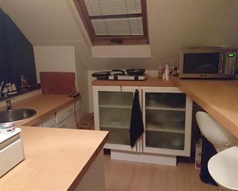 Kamer in Tilburg, Hoefstraat op Kamernet.nl: Ruime kamer met eigen keukenblok
