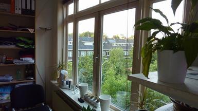 Kamer in Utrecht, Da Costakade op Kamernet.nl: Rustige studio bij Centrum-toegang tot balkon