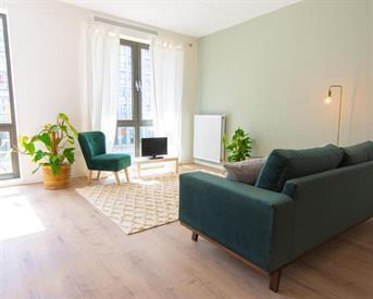 Kamer in Amsterdam, Johan van der Keukenstraat op Kamernet.nl: Mooi gemeubileerde nieuwbouw studio op Ijburg