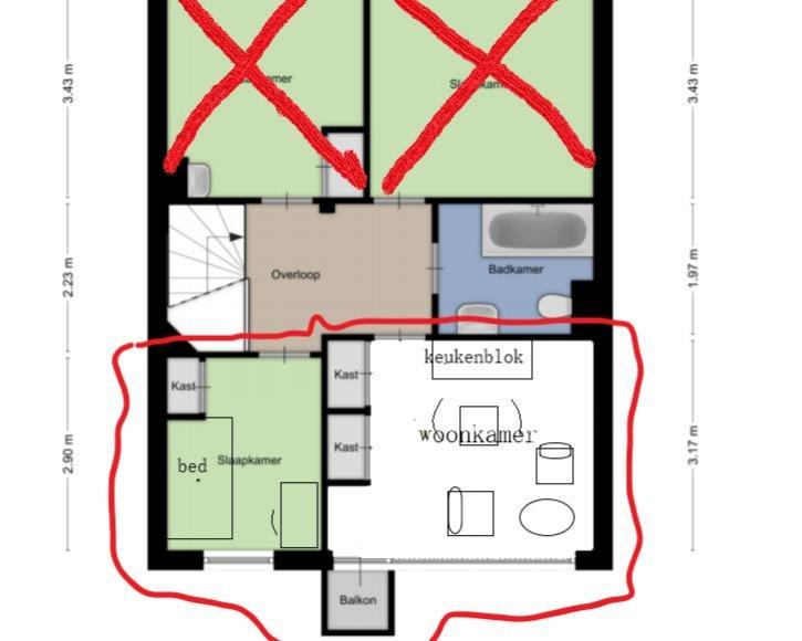 Kamer te huur in de Luchthavenlaan in Tilburg