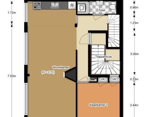 Appartement aan Bergselaan in Rotterdam