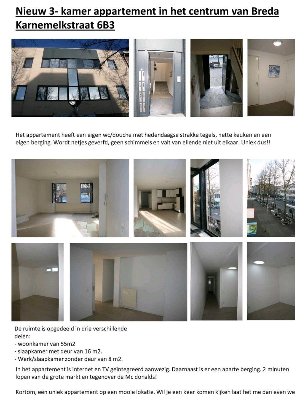 Appartement te huur in Breda voor €1050 | Kamernet