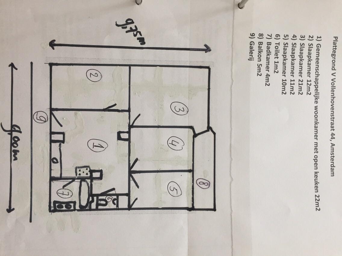 appartement aan cornelis van vollenhovenstraat in amsterdam kamer huren