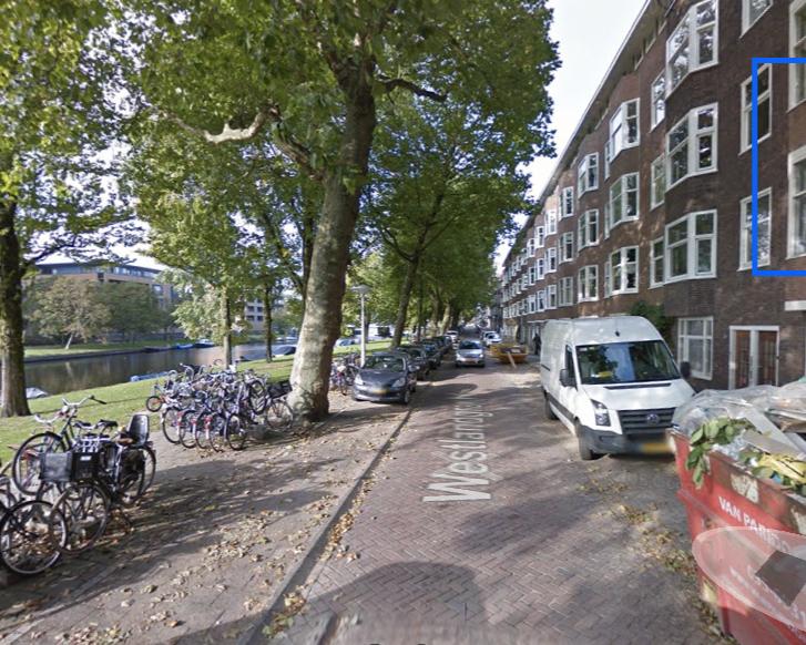 Kamer aan Westlandgracht in Amsterdam