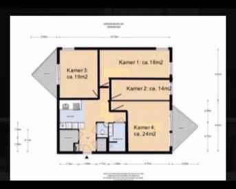 Kamer in Amsterdam, Gouden Leeuw op Kamernet.nl: Ruim appartement te huur - 4 slaapkamers per 1FEB