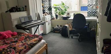 Kamer in Groningen, Van Heemskerckstraat op Kamernet.nl: open room with central position
