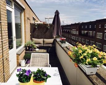 Kamer in Amsterdam, Lutmastraat op Kamernet.nl: Appartement met zonnig dakterras in De Pijp!