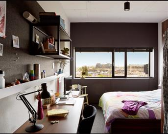 Kamer in Amsterdam, Wibautstraat op Kamernet.nl: Room at The Student Hotel City to rent to Student