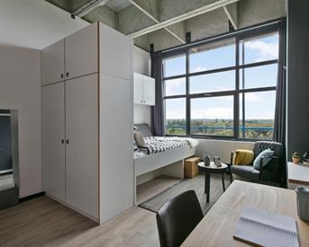 Kamer in Enschede, De Veldmaat op Kamernet.nl: Studios Campus University Twente