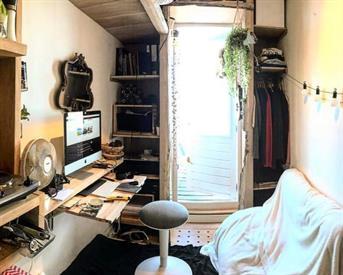 Kamer in Amsterdam, Jacob van Lennepkade op Kamernet.nl: RUILEN: Tiny house tegen goedkopere studio