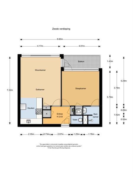 Appartement aan Assumburg in Amsterdam