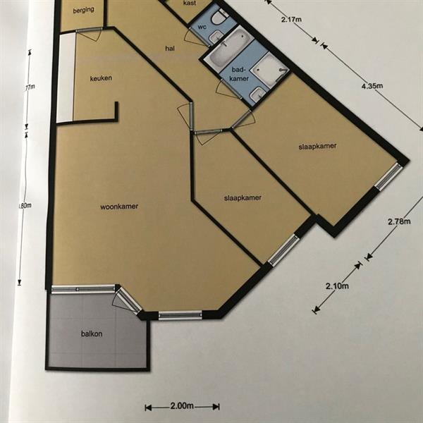 Appartement te huur in Tilburg voor €709 | Kamernet