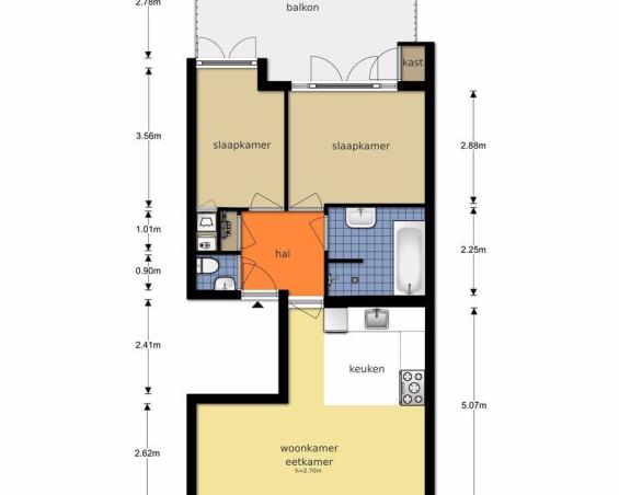Appartement aan Kribbestraat in Amsterdam