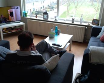 Kamer in Breda, Amerongenstraat op Kamernet.nl: 2 aansluitende kamers, slaapkamer+ woonkamer